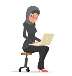 Smiling business woman lady arab cute traditional vector