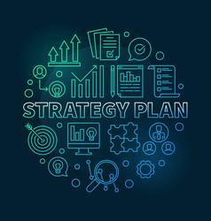 Strategy plan circular colored vector