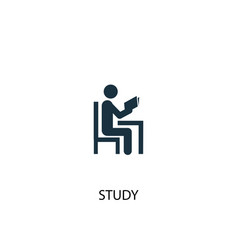 study icon simple element study vector image