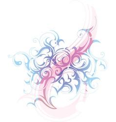 Swirls background vector image