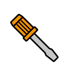 Tool repair service isolated icon vector