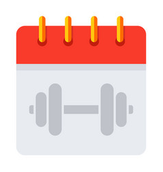Training schedule calendar vector