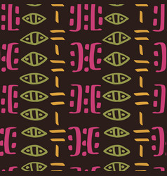 Tribal creative seamless pattern vector