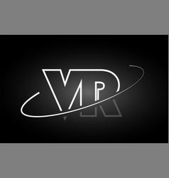 Vr v r letter alphabet logo black white icon vector