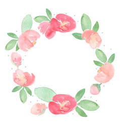 watercolor loose red and pink peony flower bloom vector image