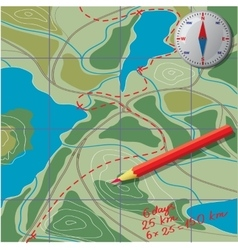 We draw on map calculate distance vector