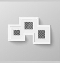 white blank picture frame with transparent place vector image