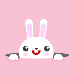 White easter rabbit bunny vector