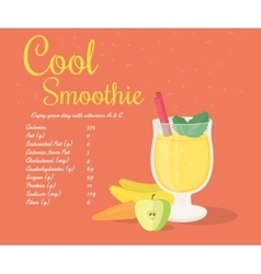 Yellow cool smoothie vector image