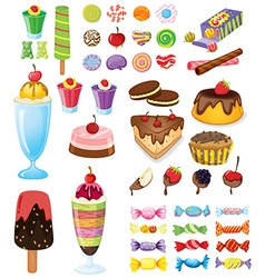 Different sweets vector image vector image