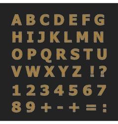 English alphabet on a dark gray background vector image