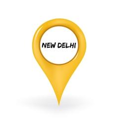 Location new delhi vector