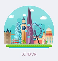 London Skyline and landscape of buildings the vector image