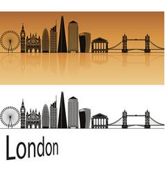 london v2 skyline vector image