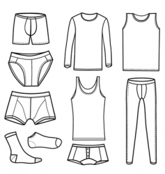 Men's Clothing and underwear vector image vector image