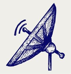 Radar vector image vector image