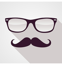 Vintage hipster face geometric pattern vector