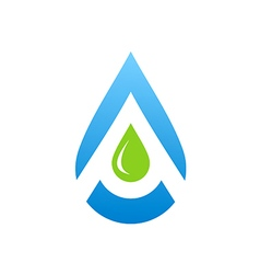 water drop aqua blue logo vector image vector image