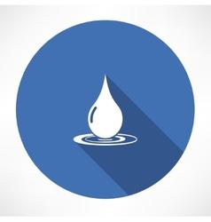 drop icon vector image vector image