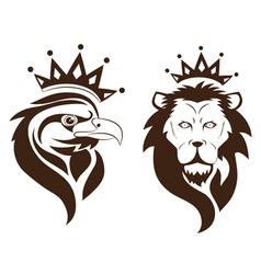 eagle lion symbol vector image