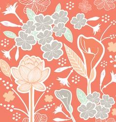 flower pattern set 1E vector image vector image