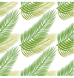 palm leaves seamless pattern vector image vector image