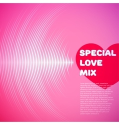Valentines Day card with vinyl tracks and heart vector image