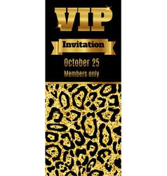 vip club party premium invitation card flyer vector image vector image
