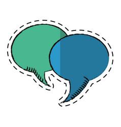 cartoon bubble speech communication dialog vector image