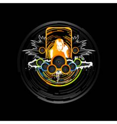 dance music design element vector image