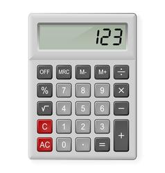 Gray Calculator vector image vector image