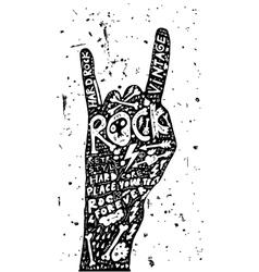 Hard Rock Roll Poster Vintage Label vector image vector image