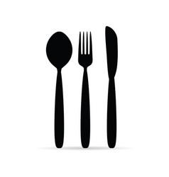 Cutlery in black color design art vector