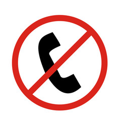 no phone signprohibit sign vector image