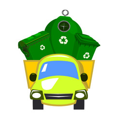 truck transported waste vector image