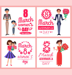 8 march womens day love spring vector image