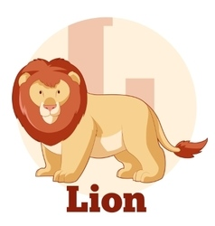 ABC Cartoon Lion vector image
