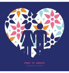 abstract colorful stars couple in love vector image