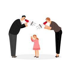 agressive parents scream at daughter vector image