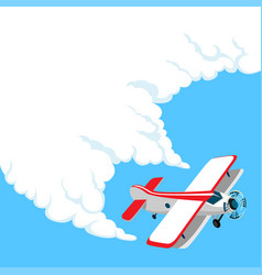 airplane in clouds vector image