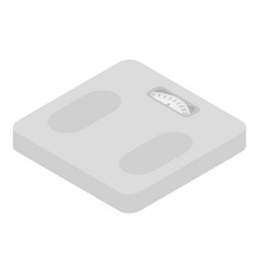Analogue foot scales icon isometric style vector