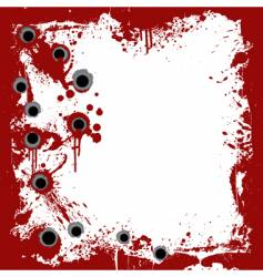 bloody frame with gunshots background vector image