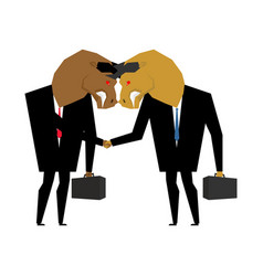 bullfighting businessman handshake business vector image