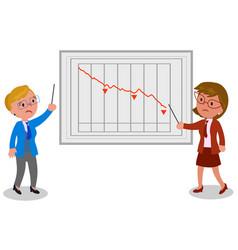 Businesswomen with bad news vector