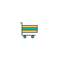 cart icon line design business icon design vector image