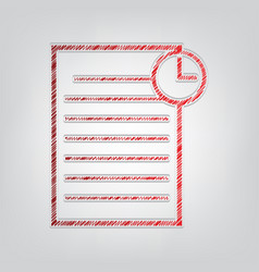 Check mark sign red gradient vector