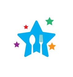 Child food funny logo designs vector