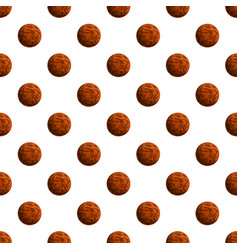 Choco lunch biscuit pattern seamless vector