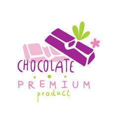 Chocolate premium product logo design emblem for vector