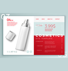 cosmetic spray bottle modern site template vector image